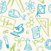 Wissenschaft Zeichnungen auf nahtlose Muster — Stockvektor