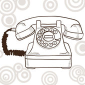 Old vintage telephone — Stock Vector