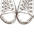 Royalty-Free Stock Vector Image: Illustration of sneakers - hand drawn style