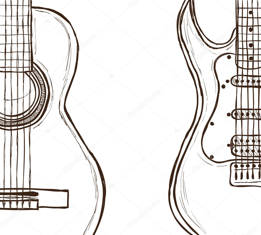 音响和电吉他 — 图库矢量图像08