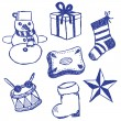 Christmas symbols doodles set — Stock Vector #13605525