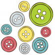 Illustration of colored buttons — Stock Vector #13882294