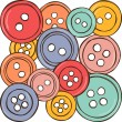 Illustration of colored buttons — Stock Vector