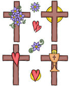 Illustration of crosses — Stock Vector