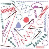 缝制设备的插图 — 图库矢量图片