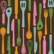 Kitchen utensils - seamless pattern — Stock Vector #14616893