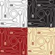 Kitchen utensils - seamless pattern - Image vectorielle