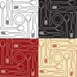 Kitchen utensils - seamless pattern — Stock Vector #14617031