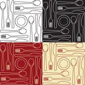Kitchen utensils - seamless pattern — Stock Vector