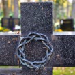 Stock Photo: Cross with crown of thorns