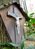 Cross with Jesus Christ crucified — Stockfoto