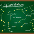 Spring Constellations on chalkboard — Stock Vector