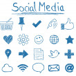 Social Media Icons - Stok Vektör