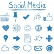 Social Media Icons - Vettoriali Stock