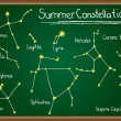 Stock Vector: Summer Constellations on chalkboard
