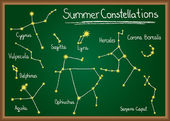 Summer Constellations on chalkboard — Stock Vector