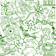 Biology seamless pattern — Stockvectorbeeld