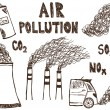 Постер, плакат: Air pollution doodle