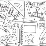 School supplies drawings — Stock Vector
