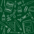 School supplies seamless pattern — Vector de stock