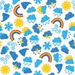 Weather seamless pattern — Stock Vector