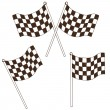 Checkered flag drawing — Stock vektor