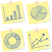 Charts sketches — Stock Vector