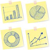 Charts sketches — Stock Vector