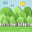 Spring or summer forest — Stock Vector