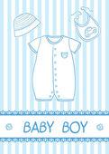 Bebek çocuk kartı — Stok Vektör