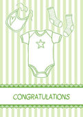 New baby arrival card — Stock Vector