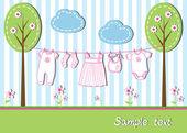 Baby girl card — Stock Vector
