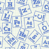 Chemical elements seamless pattern — Stock Vector