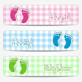 Baby shower banners — Stock Vector