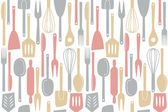 Kitchen utensils seamless pattern — Stock Vector