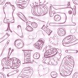 Stock Vector: Sewing doodles