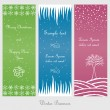 Set of winter and christmas banners — Stock Vector
