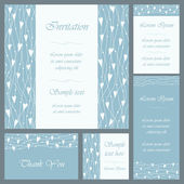 Wedding or invitation card set — Stock Vector