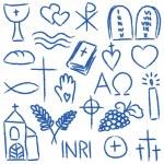 Religious chalky symbols — Stock Vector #40100833