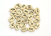 Fortune telling of the nordic runes — Stock Photo