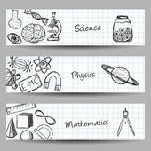 Set of Science Banners — Stock Vector
