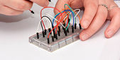 Breadboard Jumper Cable Wires — Stock Photo