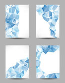 Backgrounds with abstract triangles — Stock Vector