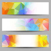 Set of banners with abstract triangles — Stock vektor