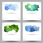 Set of backgrounds with abstract triangles — Vecteur