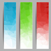 Set of banners with abstract triangles — Stok Vektör