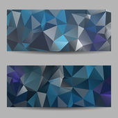 Set of banners with abstract triangles — Stockvektor