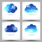 Set of backgrounds with triangular clouds — Stok Vektör