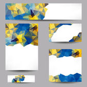 Backgrounds with abstract triangles — Stok Vektör