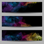 Set of banners with abstract triangles — Stock Vector